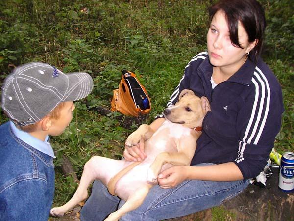 Удивленный Вова Г, смешная собака и жена Ландау